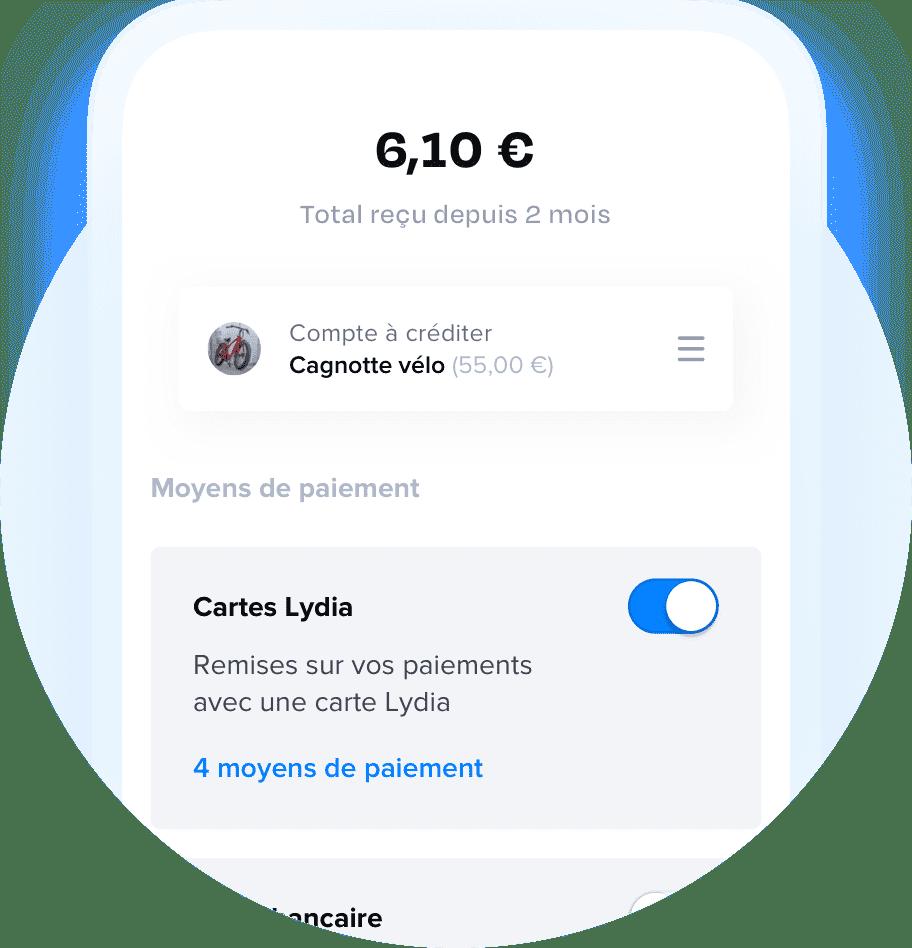Lydia notification